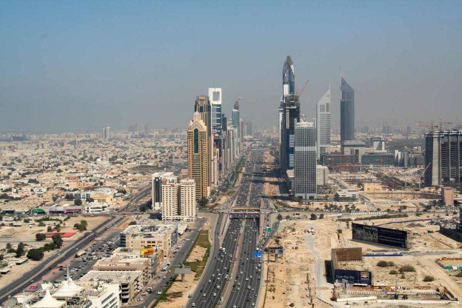VAE-Dubai-Business Bay in der Entstehung