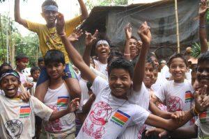 INDIEN-Mumbai-Jugendgruppe während eines Festival, Gokulashatmi, der Geburtstag von Krishna