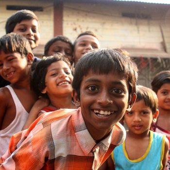 INDIEN-Mumbai-Kinder in Dharavi