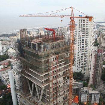INDIEN-Mumbai-Antilia im Bau, Mukesh Ambani's Zuhause