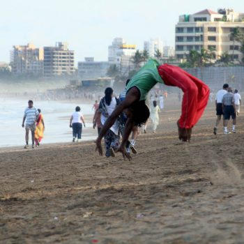 INDIEN-Mumbai-Juhu Beach am Morgen