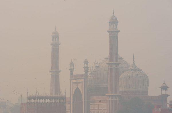 Jama Masjid im Morgendunst ganz nah