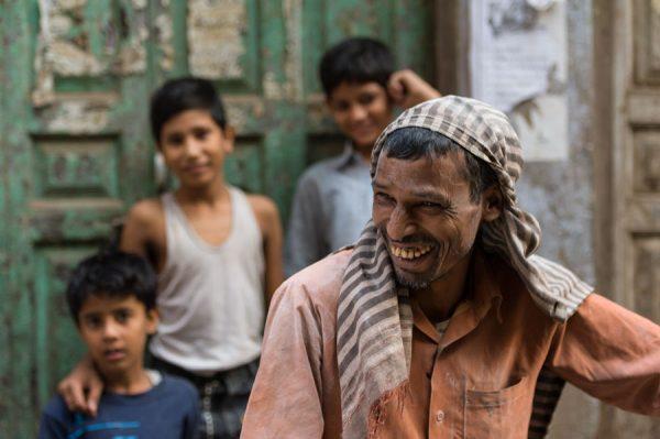 Mann in Old Delhi