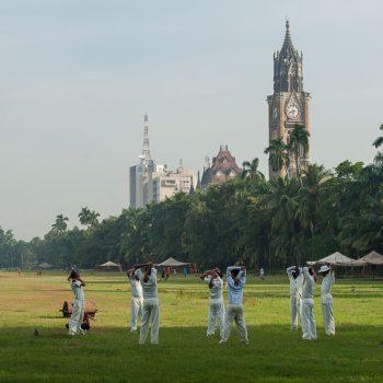 INDIEN-Mumbai-Oval Maidan und die Universität
