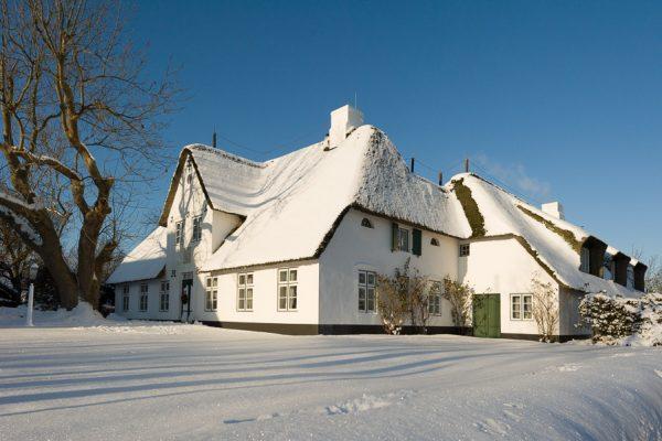 Deutschland-Sylt-Keitum-Kate im Winter