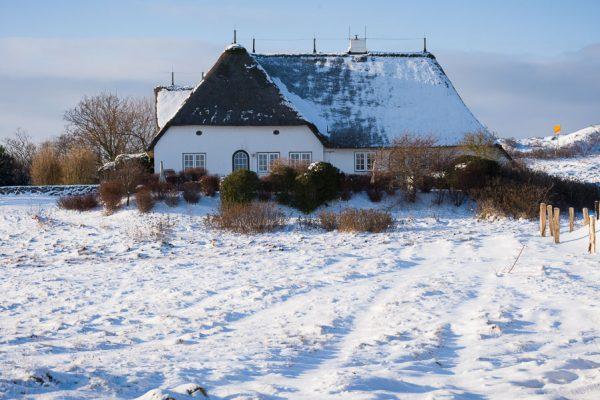 Deutschland-Sylt-Munkmarsch-Kate im Winter