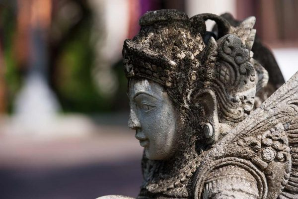 Indonesien-Bali-Tempel Statue