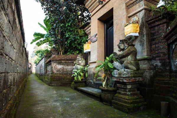 Indonesien-Bali-balinesischer Hauseingang