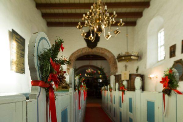 Deutschland-Sylt-Archsum-Kirche zu Weihnachten