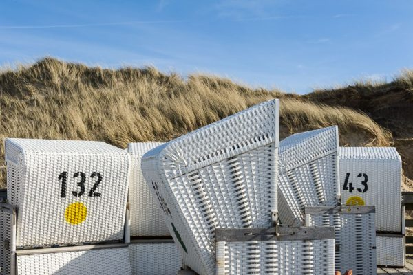 Deutschland-Sylt-Kampen-Strandkörbe