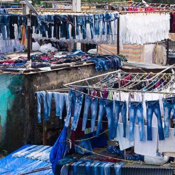 INDIEN-Mumbai-Dhobi Ghats - die Wäscherei der Stadt