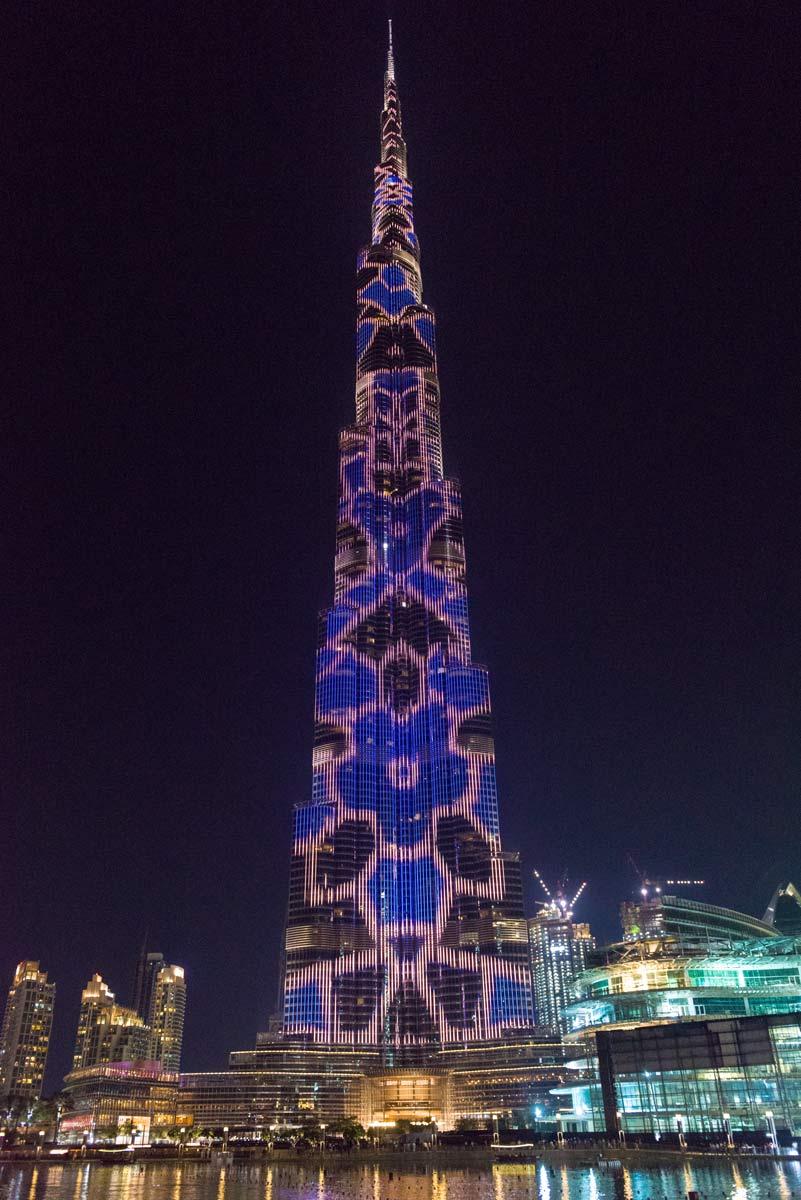 VAE-Dubai-Burj Khalifa am Abend