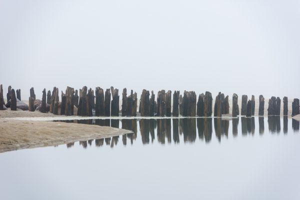 Deutschland-Sylt-Westerland-Buhnen am Strand