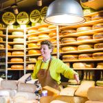 Europe-Niederlande-Rotterdam-market hall-cheese shop