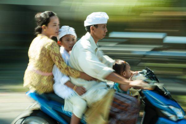 Indonesien-Bali-Familienkutsche