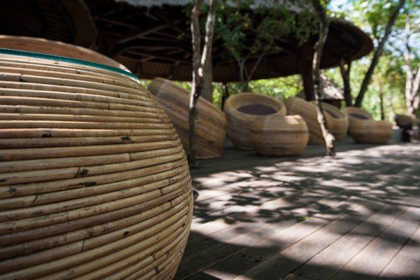 Indonesien-Bali-Hotellobby