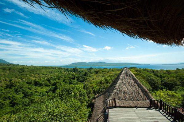 Indonesien-Bali-Blick nach Java
