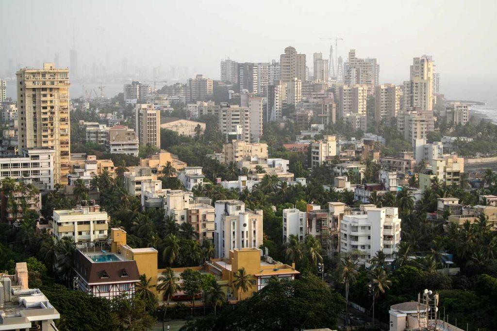 INDIEN-Mumbai-Bandra von oben