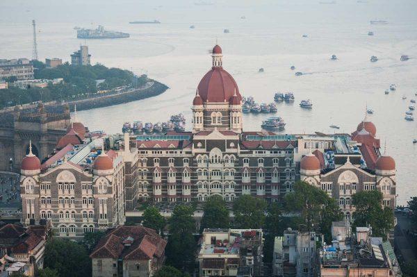 INDIEN-Mumbai-Taj Mahal Palace Hotel von oben