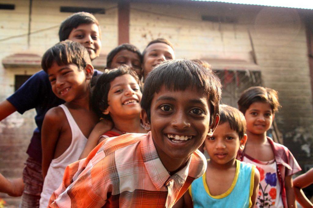 INDIEN-Mumbai-Slumkinder in Dharavi