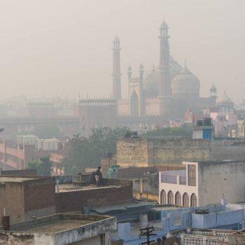 Jama Masjid im Morgendunst
