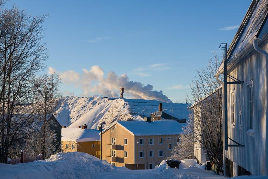 Schweden-Kiruna-Erzmine