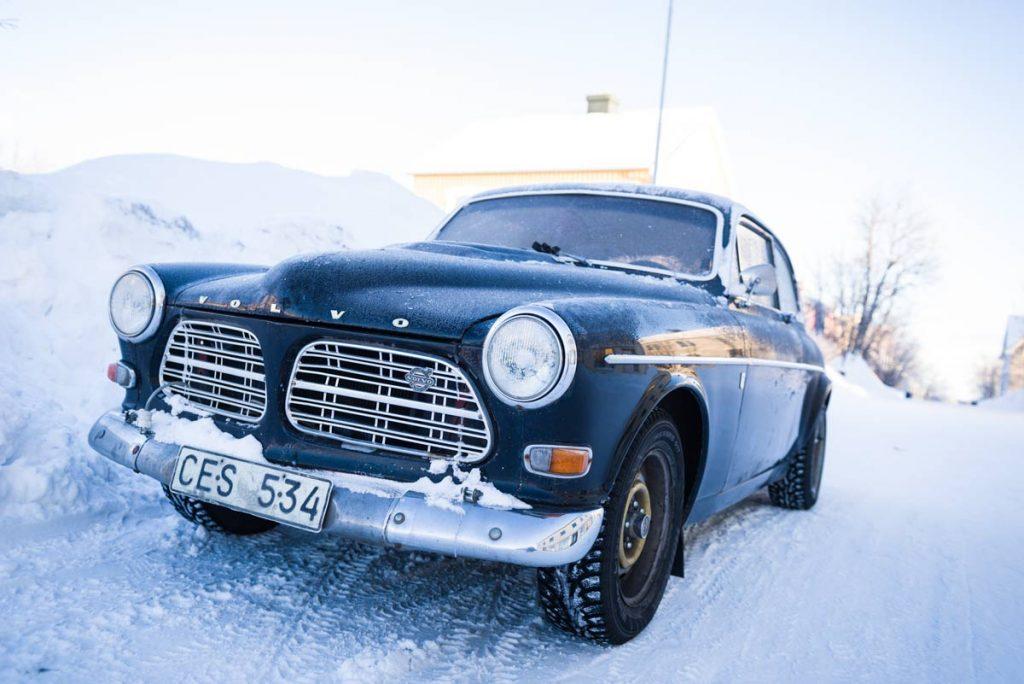 Schweden-Kiruna-alter Volvo