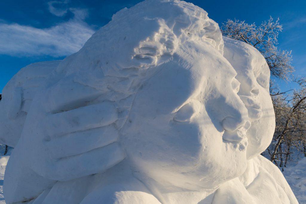 Schweden-Kiruna-Eisskulpturen
