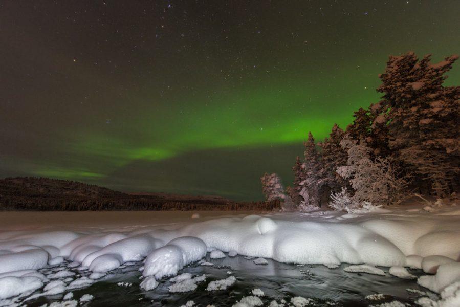 Schweden-Kiruna-Nordlichter