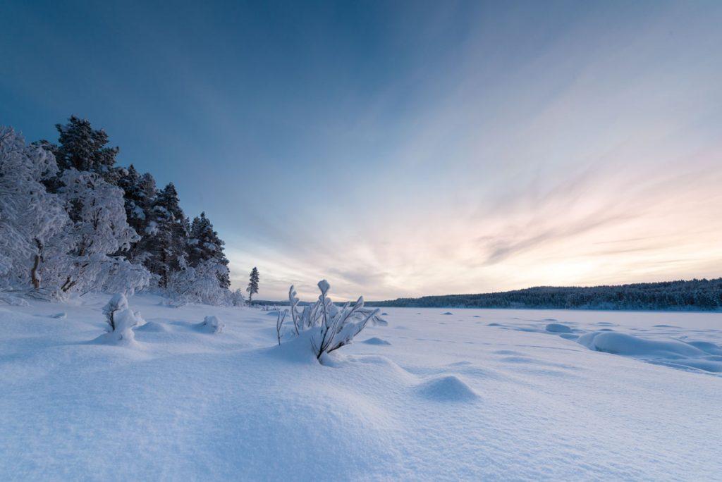 Schweden-Kiruna-Winterstimmung