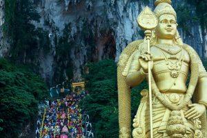 Malaysia-Kuala Lumpur-Batu Caves-Thaipusam-Lord Murugan