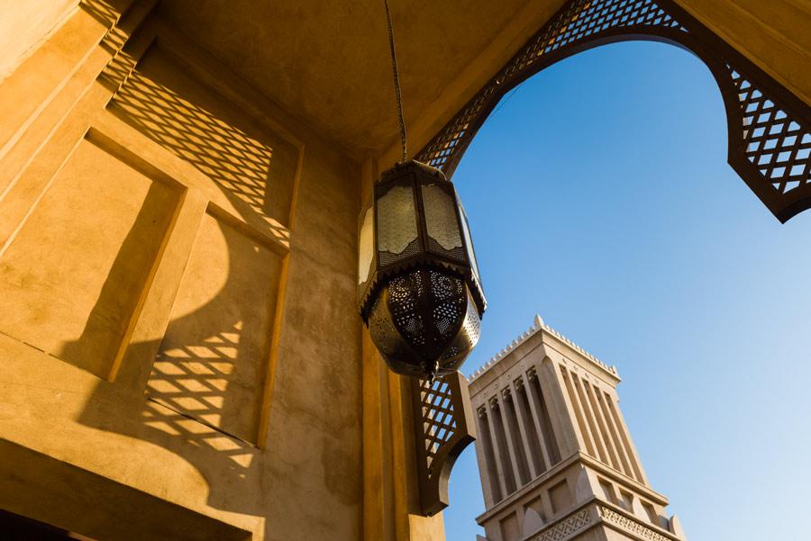 VAE-Dubai-arabische Details in der Architektur