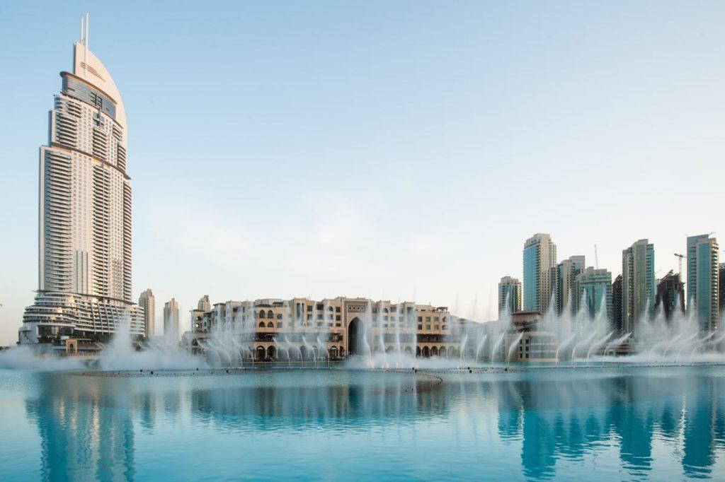 VAE-Dubai-Choreografie mit Wasserfontänen