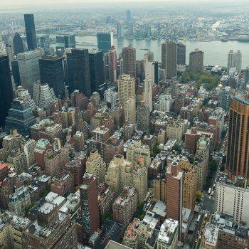 USA-NY-Blick von oben zur Queensboro Bridge